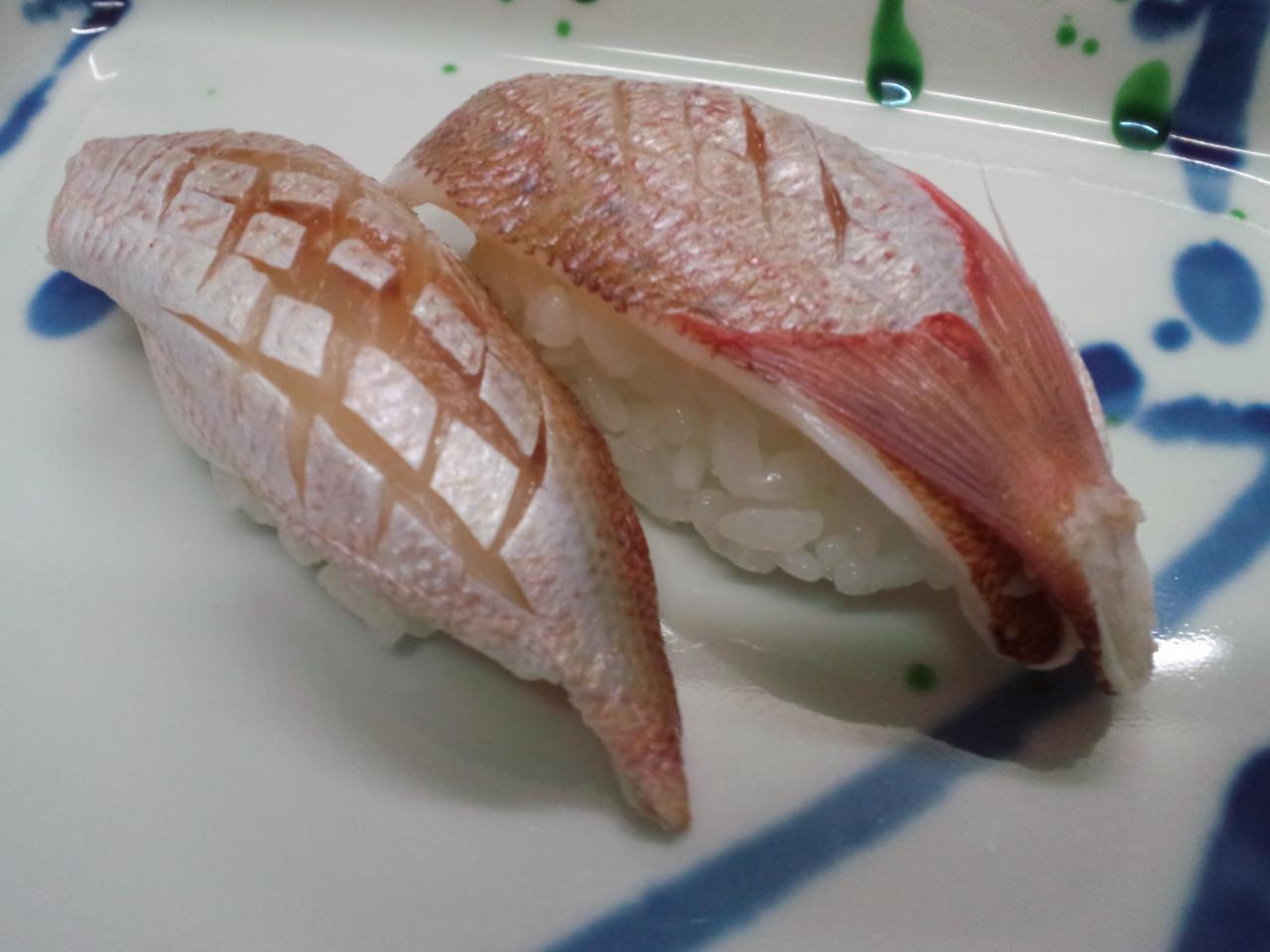 小鯛(カスゴ)のお寿司。
